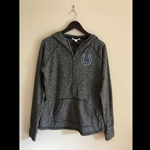 NFL Colts Grey Zip Up Hoody Size Large